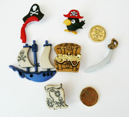 Neuf pirates coin épée novelty dress it up boutons couture cardmaking bouton