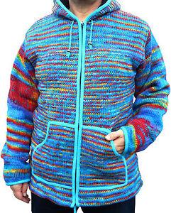 Xxl foderato Fair in arcobaleno Wool Giubbotto M Hippy L Xl Boho pile Trade 7fwW6Cqd