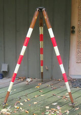 New Listingvintage Leveling Wood Surveyor Survey Transit Tripod Painted Pickup Only Ohio