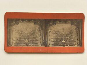 Scena Da Théâtre Fotografia Di Dopo Incisione Stereo Vintage Albumina c1870