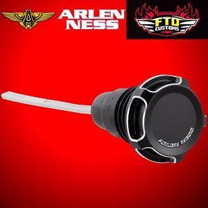 Arlen Ness Arlen Ness Black Beveled Oil Dipstick for Harley Touring 70-222