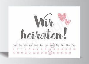 10x-Save-the-Date-Karte-Wir-heiraten-grau-rosa-Hochzeit-Vorankuendigung-Postkarte
