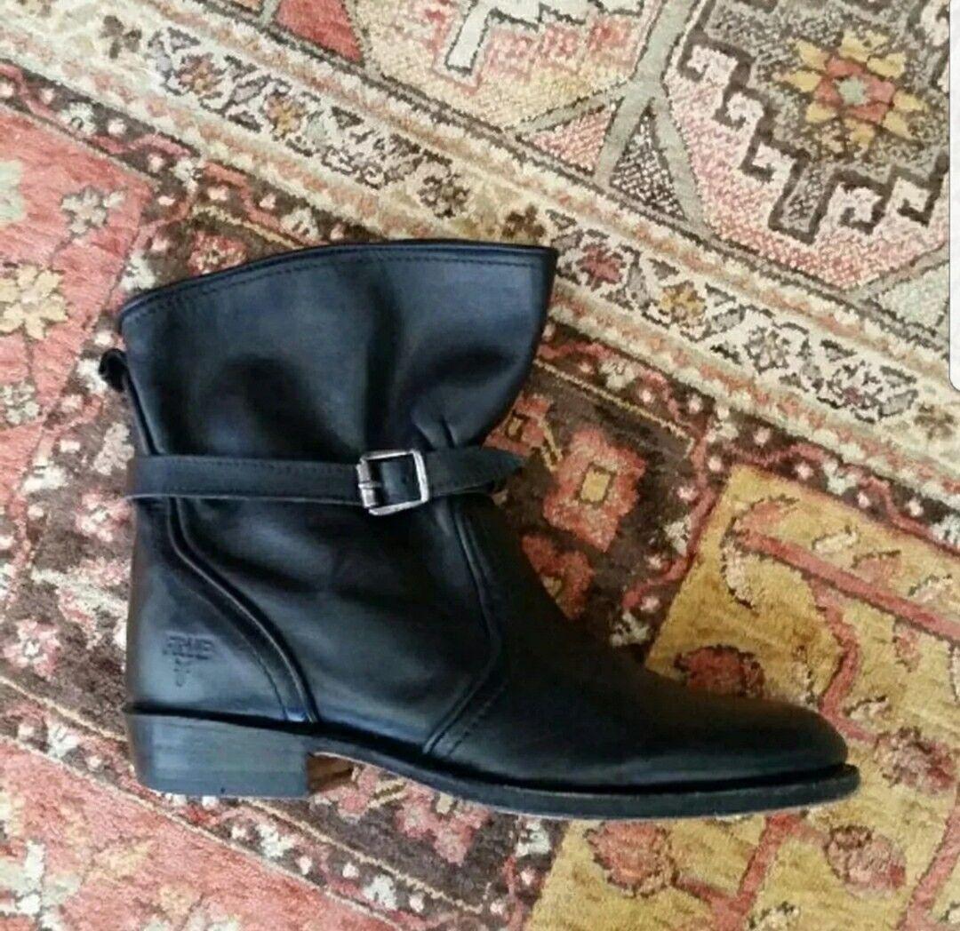 Para Mujeres Cuero Negro Frye Hebilla botas Talla Talla Talla 7.5  A la venta con descuento del 70%.