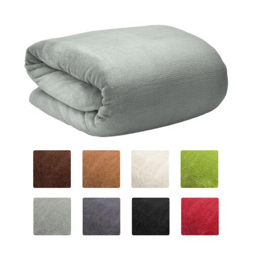 Beautissu Large Coral Polar Fleece Blanket Throw Aurelia Bedspread Sofa Cover