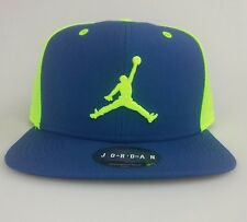 Nike Air Jordan Snapback Hat NEW Retro 6 Jumpman Blue Volt  619360 449 Fly