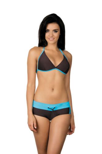 Para Mujeres Disfraz Deporte Natacion Dos Piezas Conjunto Bikini Size UK 8-14