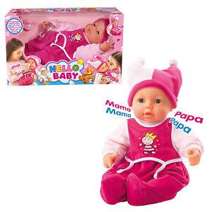 Poupée Bayer Design Hello Baby avec caractéristiques