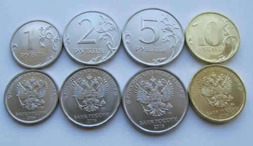Russia 2016 set of coins 1 2 5 10 roubles Moscow UNC new obverse RU128