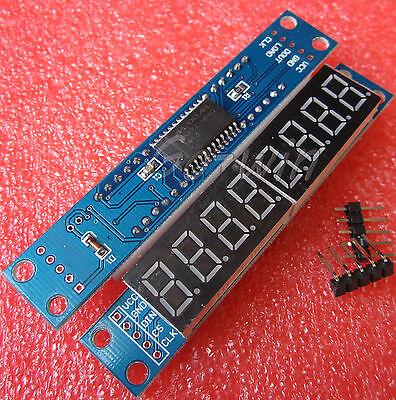 2PCS  MAX7219 EWG 8-Digit Digital Tube Display Control Module Red  M61