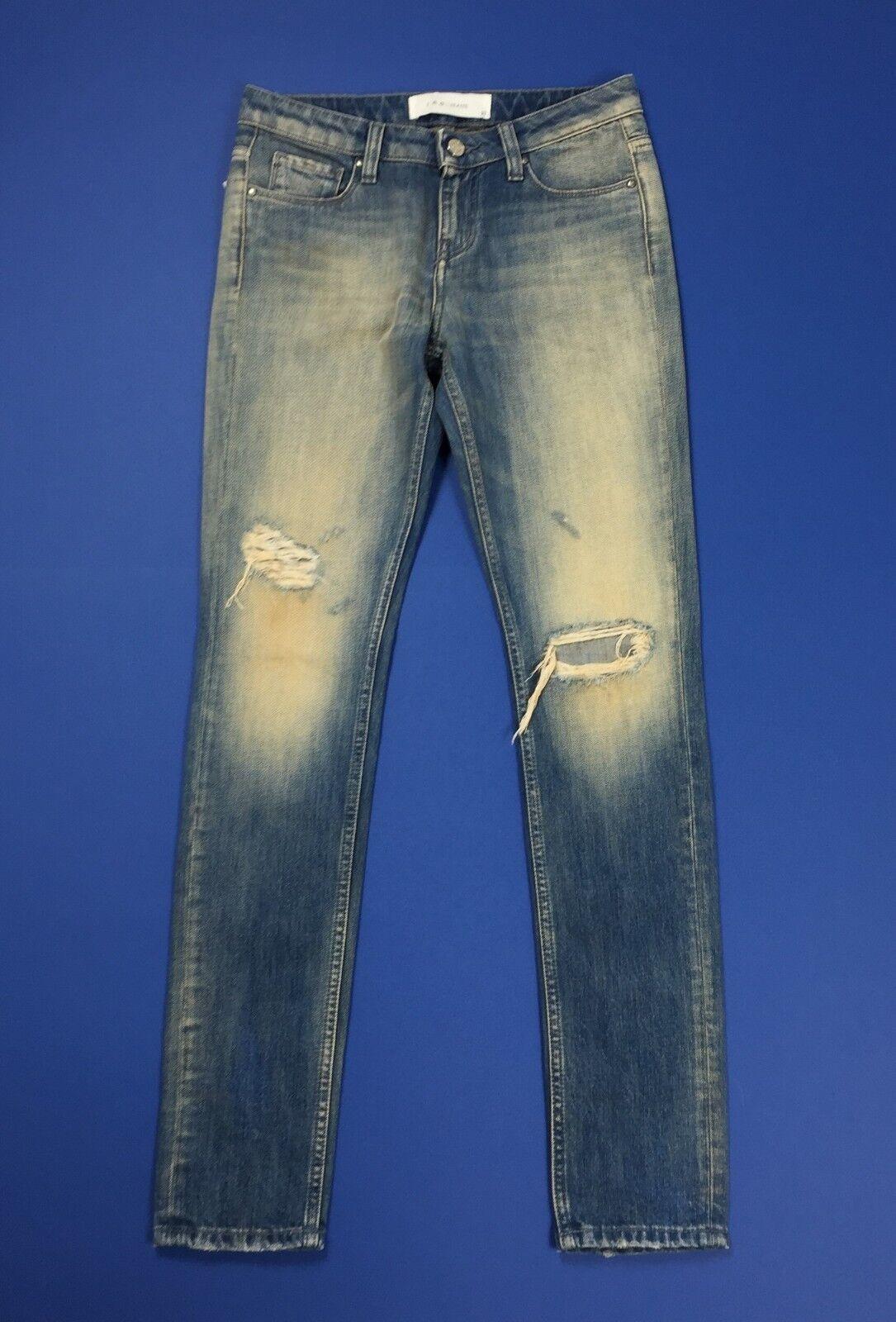 Iro jeans donna nuovo skinny stretch destroyed w27 tg 41 hot mom luxury T4228