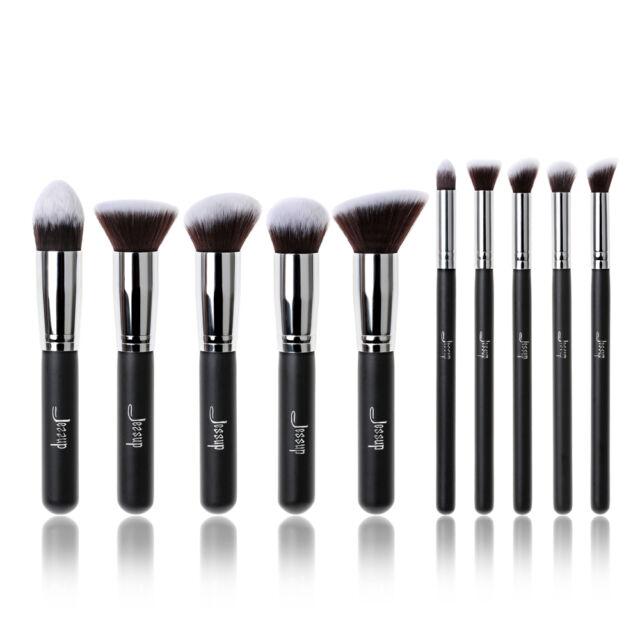 Jessup Makeup Brush Set Cosmetic Foundation Blending Pencil Blush  Kabuki Brow