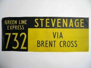 Vintage-bus-destination-blind-Stevenage-Brent-Cross-screen-printed-linen