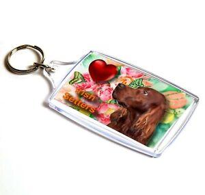 Irish Setter Keyring  Dog Key Ring Red Setter Dog Gift Xmas or Mothers Day Gift