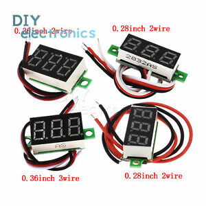 0-28inch-DC-Digital-Voltmeter-Panel-Mount-LED-Voltage-Meter-100V-2-5-30V-US