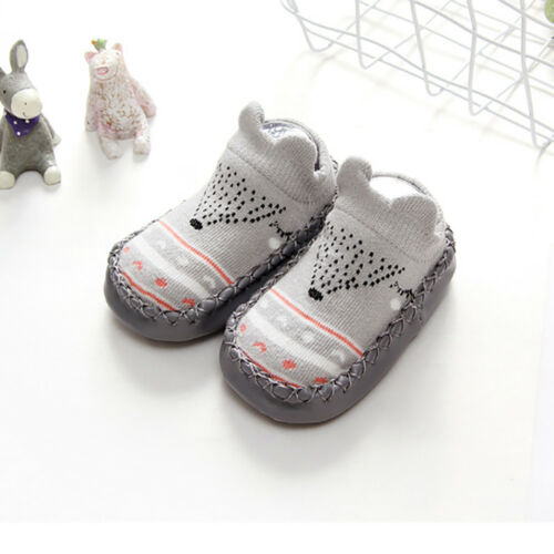 Cute Baby Girl Boy Anti-slip Socks Cartoon Newborn Slipper Shoes Boots  0-18M