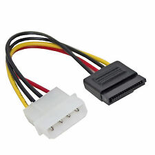 4 Pin Molex Power Connector to Serial ATA SATA Device Adaptor Lead Cable