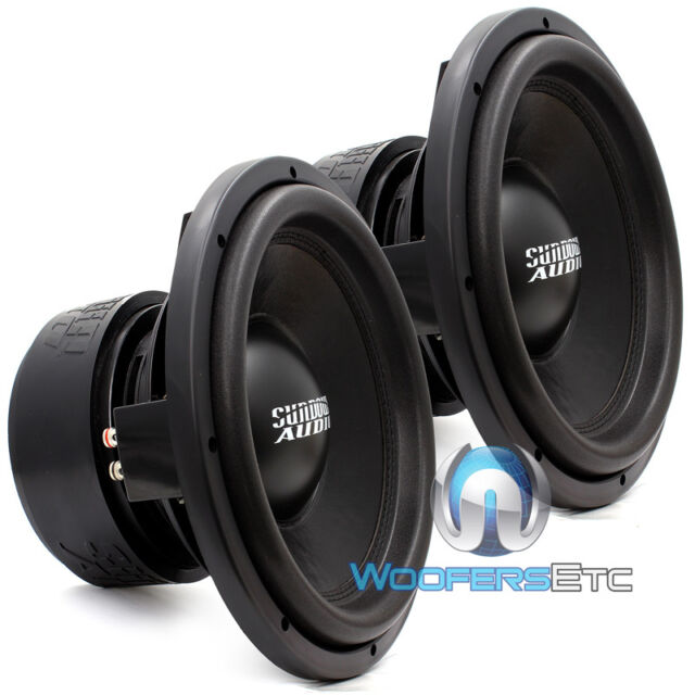 "(2) SA-12D2 SUNDOWN AUDIO 12"" DVC 2 OHM SA PRO LOUD BASS SUBWOOFERS SUBS PAIR"