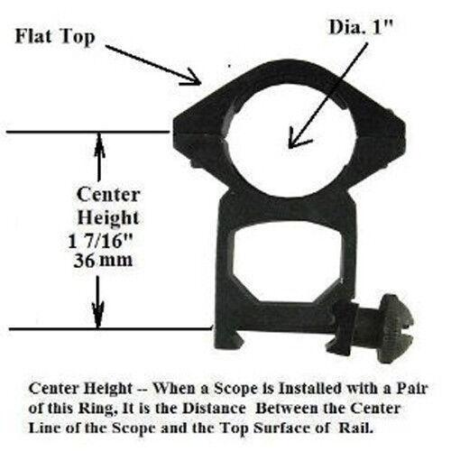 "RG-2007 1/"" Weaver Ring Flat Top High"
