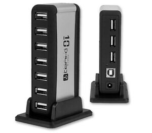 Titan-High-Speed-10-Port-USB-2-0-Hub-With-AC-Adapter-USB-Cable-Portable-Stand