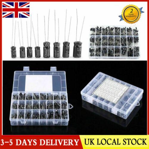 500pcs 24 Types Aluminum Electrolytic Capacitor Kits 0.1UF-1000UF 16V-50V Box
