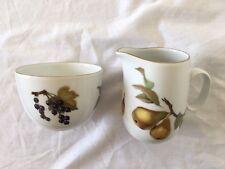 Royal Worcester - Evesham Gold - Milk / Cream Jug & Open Sugar Bowl