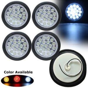 4x-Car-Truck-Trailer-LED-Round-Reflector-Rear-Tail-Brake-Lamp-Stop-Marker-Light