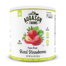 Augason Farms Freeze Dried Sliced Strawberries Emergency Food 6.4 Oz #10 Can