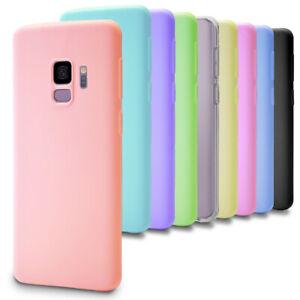 Slim-etui-en-caoutchouc-pour-Samsung-Galaxy-S9-S-9-Plus-Mobile-Cover-Plain-TPU-Mat-Soft