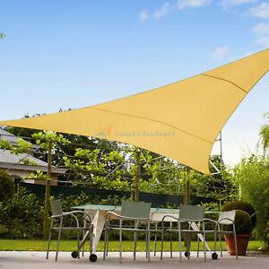 Yellow Custom Triangle Waterproof Sun Shade Sail Screen Outdoor