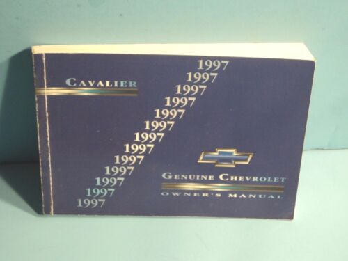97 1997 Chevrolet Cavalier owners manual