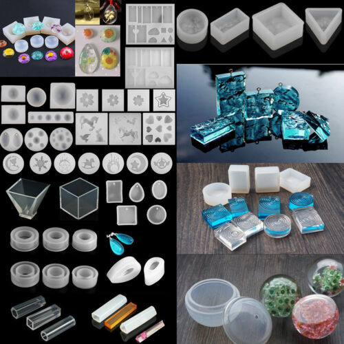 Silicone Pendant Mold Making Jewelry Pendant Resin Casting Mould Craft Tool DIY
