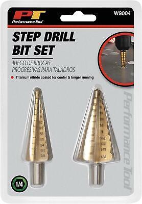 Termight Series 2 Piece Step Drill Bit Set