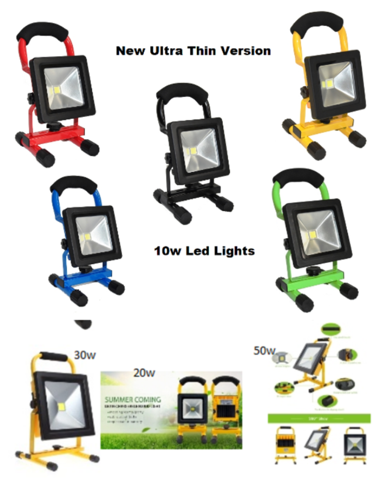 Hi Power 10/20/30/50W Portable LED Rechargeable Flood Weiß Light Work & Camping