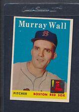 1958 Topps #410 Murrray Wall Red Sox EX/MT *960