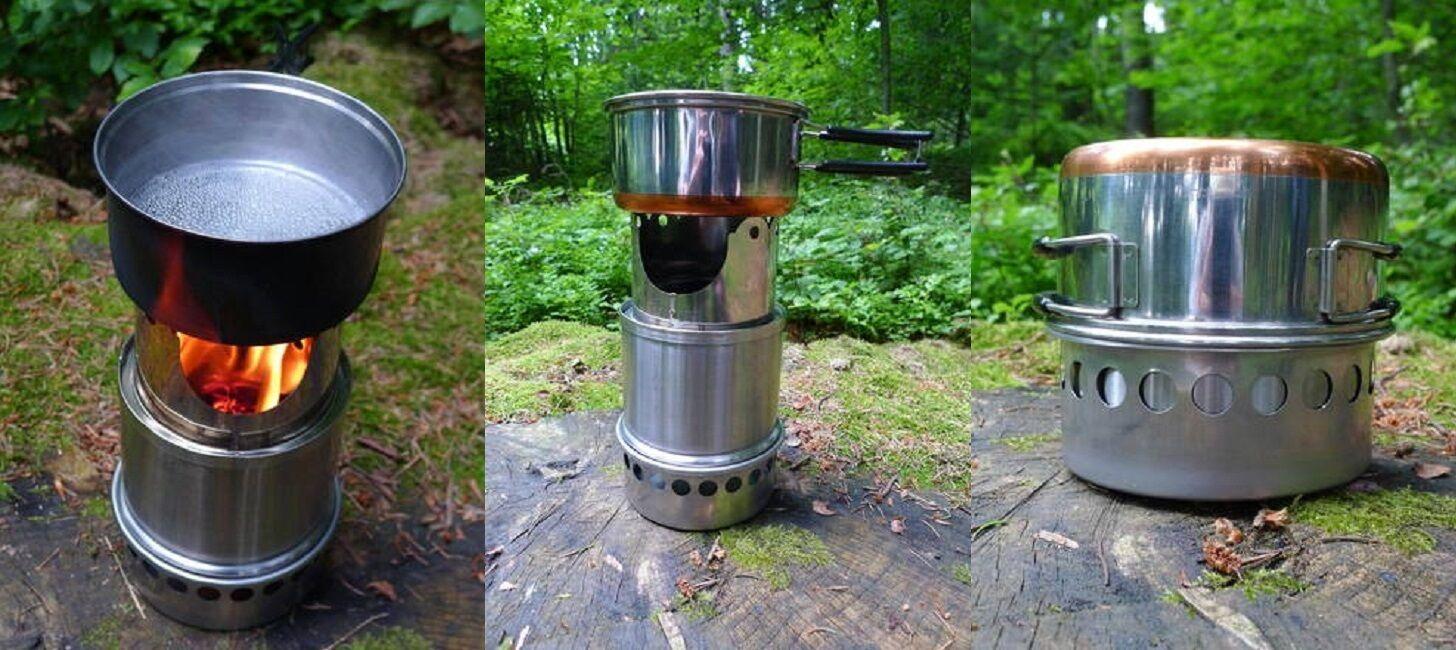 Outdoor-Ofen aus Edelstahl   Firepot Typ 140  NEU