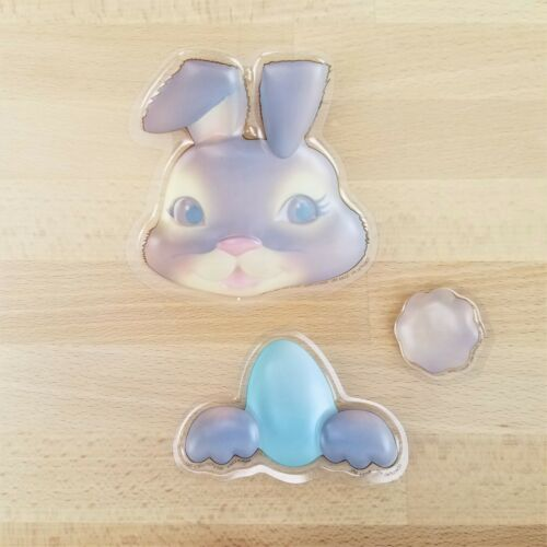 Retro Brown Easter Bunny Cake Topper Lay On Plastic Spring Cake Decorations