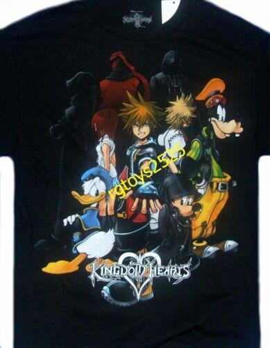 Disney Kingdom Hearts Short Sleeve T-Shirt 8 10 12 14 16 Child New Sora Mickey