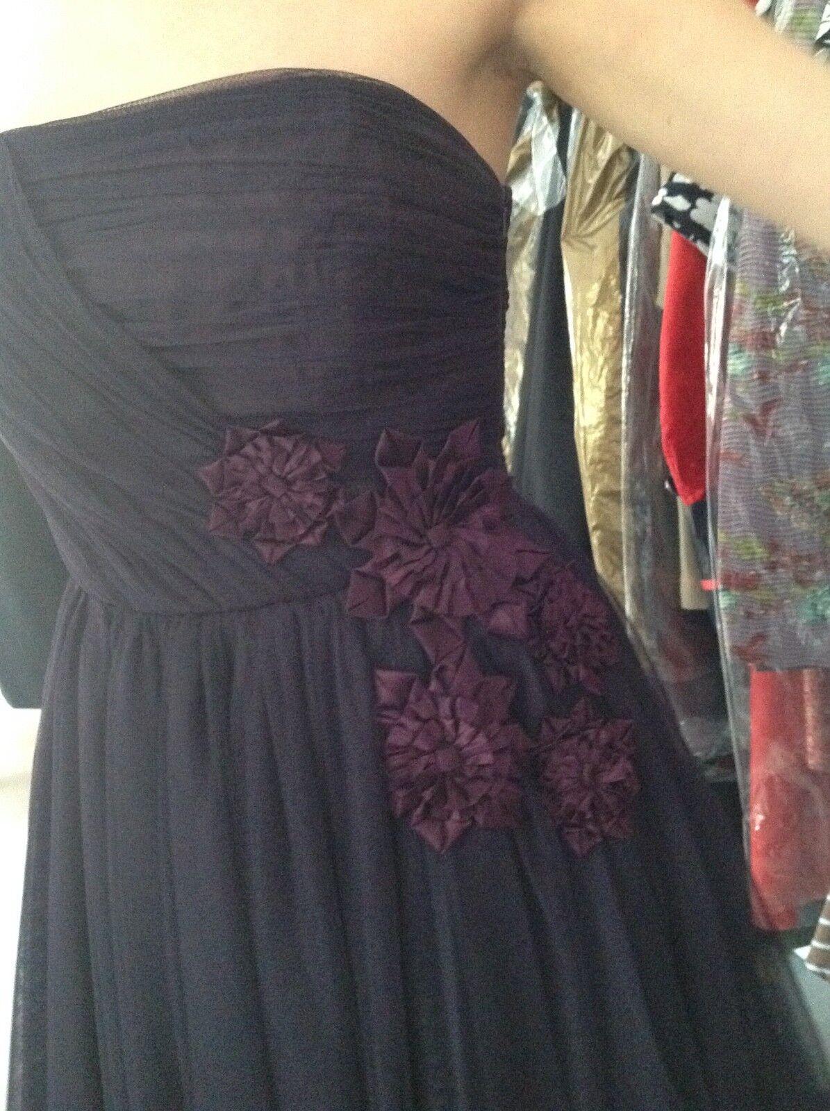 COAST LADIES STRAPLESS DRESS DRESS DRESS PURPLE COLOR SIZE a6b889