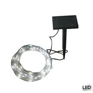 Details About Hampton Bay 16 Ft Solar Integrated Led Clear Rope Light With Panel 905007