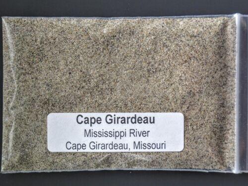 MISSOURI ~SAND sample CAPE GIRARDEAU on the MISSISSIPPI RIVER ~ CAPE GIRARDEAU