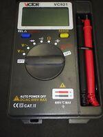 Digital Multimeter Compact Pocket Hard Case Vc921 Vom Industrial Grade
