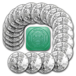 2014 1 Oz Silver American Eagle Coin Lot Of 20 Coins