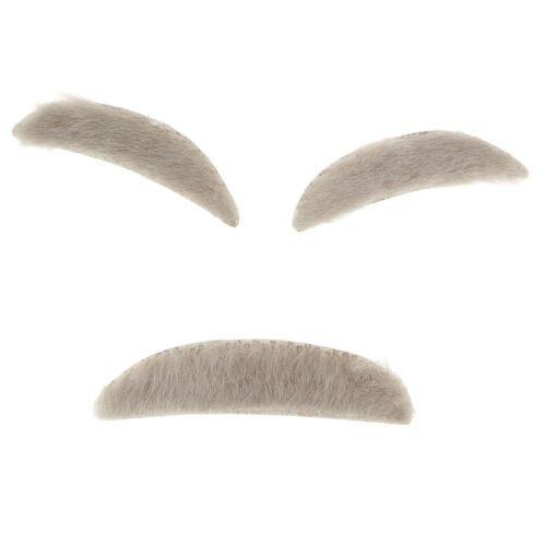 Funny Stylish Old Man Adhesive Eyebrows Mustaches Fancy Dress Costume Props