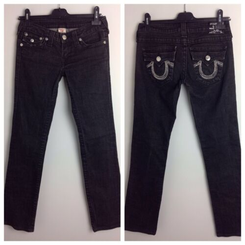 Straight JeansBlackUk True Rise Women's Mid Authentic 27 Billy Seat Religion RLq3j4A5