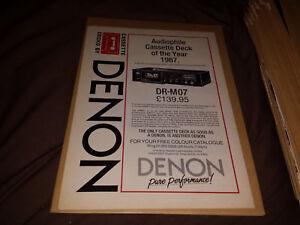 Denon-DR-M07-80-039-s-Vintage-Audio-Magazine-Retro-Poster-Art