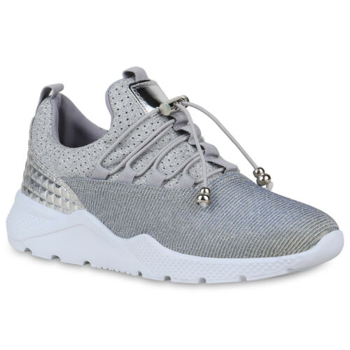Damen Sportschuhe Laufschuhe Fitness Sneaker Glitzer Turnschuhe 822464 Schuhe