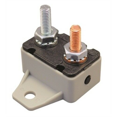 Marine 30 Amp Resettable Inline Circuit Breaker with Manual Reset Button 12V 24V