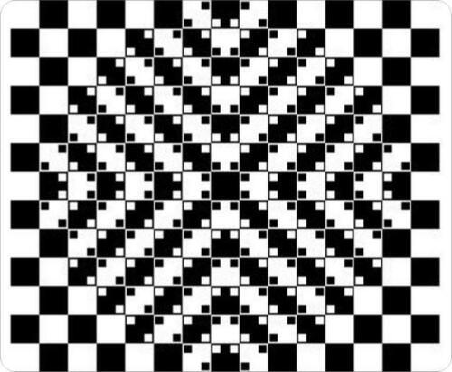 MP5975 Yellow Dot Spiral Purple Optical Illusions Mouse Pad Mat