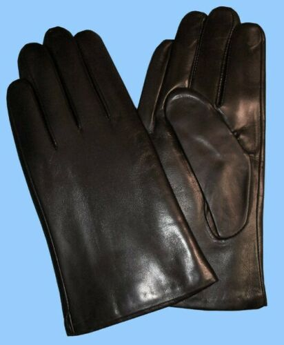 NEW MENS BLACK LAMBSKIN FINE GENUINE LEATHER UNLINED GLOVES Highest Quality
