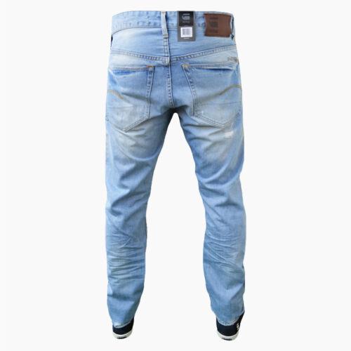 différentes tailles Nouveau G-STAR 3301 Fuselé Wisk DNM Destroy Jeans Pantalon